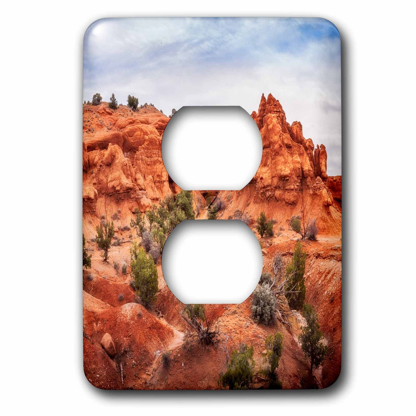 3dRose DanielaPhotography - Landscape, Nature - Natural Arch in Kodachrome Basin State Park, Utah, USA - Light Switch Covers - 2 plug outlet cover (lsp_282035_6)