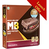 MuscleBlaze Protein Bar (10g Protein), 6 Piece(s)/Pack Choco Cranberry