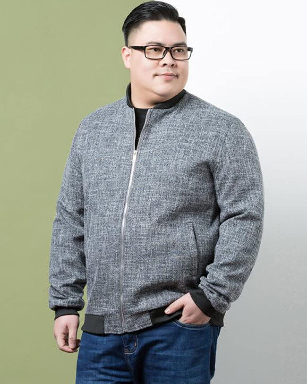 NPHM Mens Jacket Loose Baseball Collar Coat Long-Sleeved Comfortable Casual
