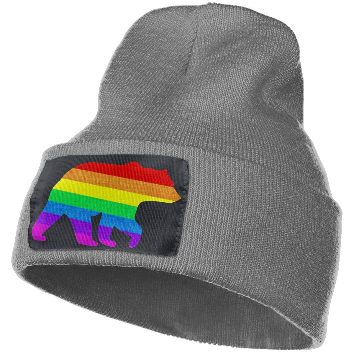 Gay Bear Men /& Women Winter Soft Pure Color Hat