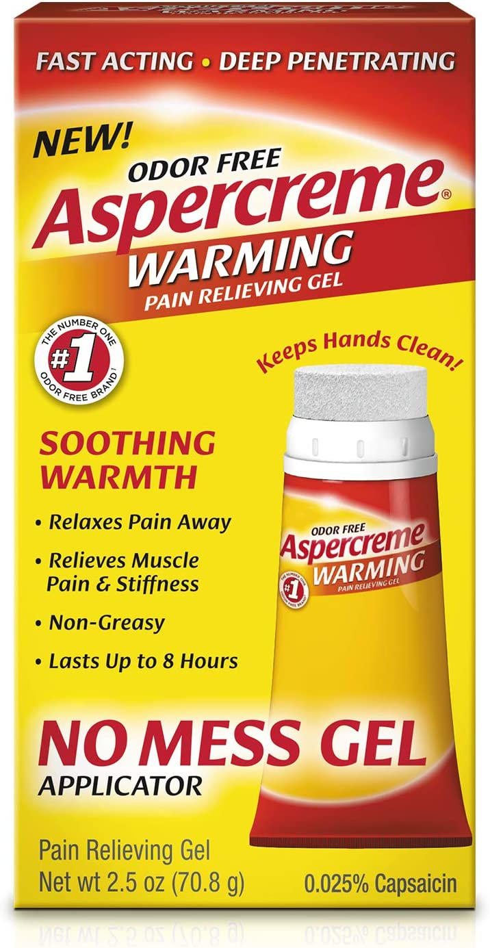 Aspercreme Odor Free Warming Pain Relief Gel for Arthritis, Join & Muscle Pain, 2.5 Ounces