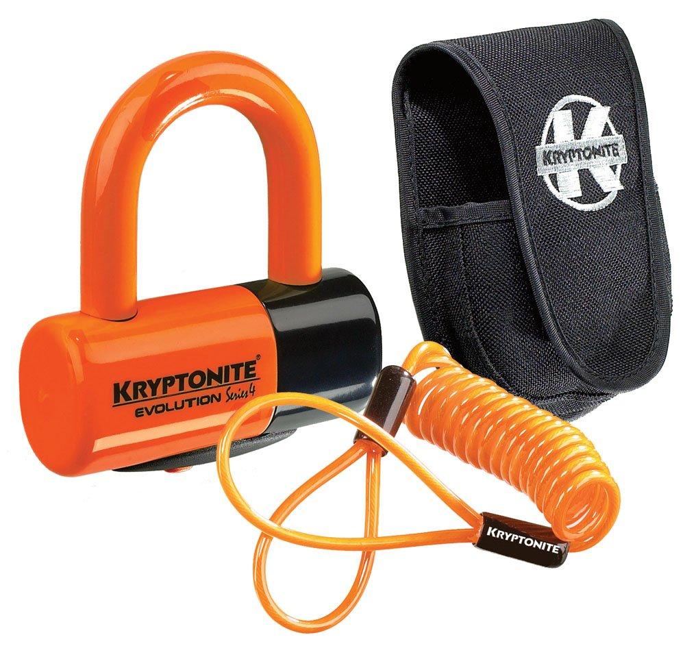 Kryptonite Evolution Premium Pack Lock with Pouch - Orange, Disc 999591
