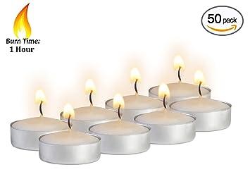 Mini Tea Light Candles - 50 Bulk Pack - White Unscented Travel Centerpiece Decorative  sc 1 st  Amazon.com & Mini Tea Light Candles - 50 Bulk Pack - White Unscented Travel ... azcodes.com
