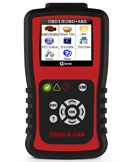 KZYEE KC401 OBDII OBD2 Scanner ABS Diesel or Gas Engine Diagnostic Code  Reader Support Five Protocols [CAN Bus,J1850 VPW,ISO 9141-2,J1850 PWM,ISO