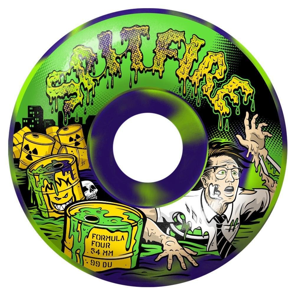 Spitfire Formula Four Toxic Apocalypseパープル/グリーンクラシック52 mm 99d Skateboard Wheels (Set of 4 ) B07FHXVG59