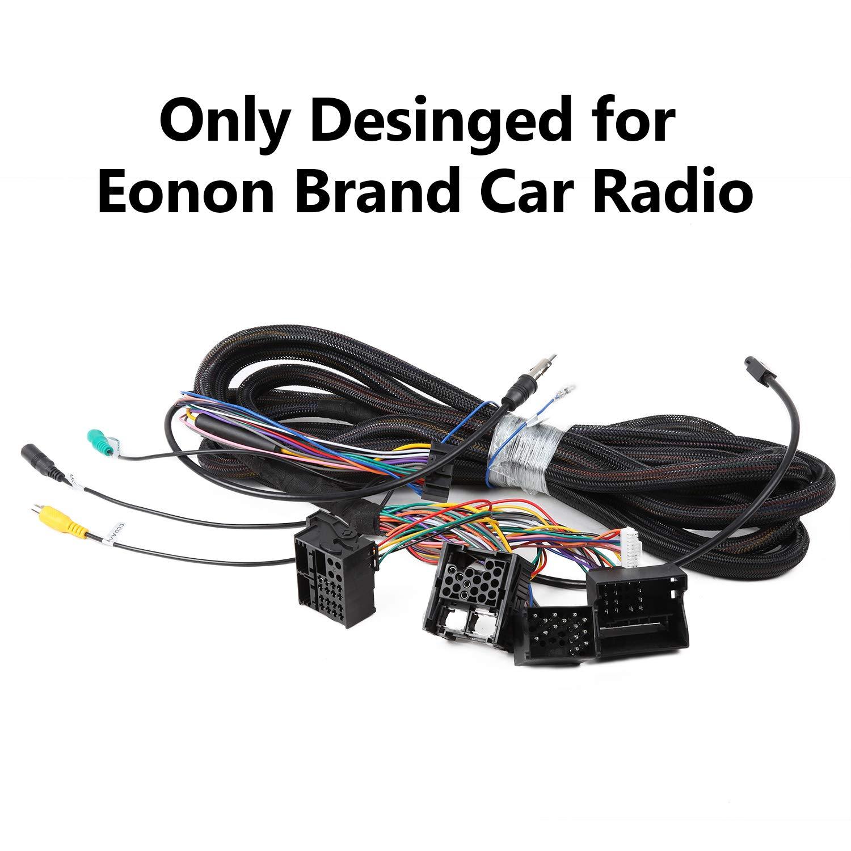 eonon a0579 extended installation wiring harness for eonon product bmw  e46/e39/e53 wiring cable 17 pin+ 40 pin work with eonon head unit  ga6150/ga6201/