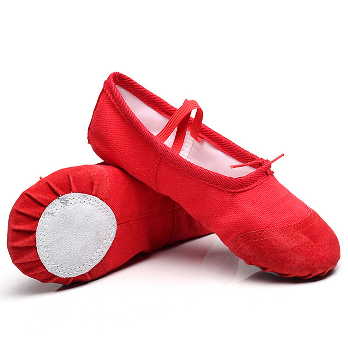 Lovewhitewolf Ballet Slippers Classic Split-Sole Canvas Dance Gymnastics Yoga Shoes Flats Toddler/Kid