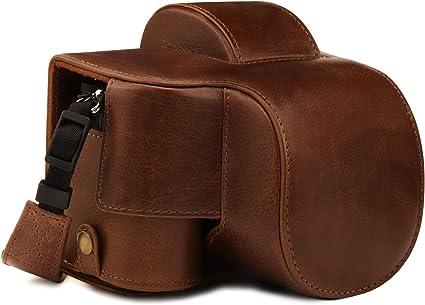 Megagear Ever Ready Mg1814 Kameratasche Aus Echtleder Kompatibel Mit Nikon Z50 16 50 Mm Braun Elektronik