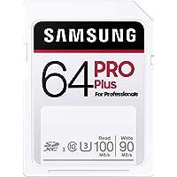 Samsung Pro Plus MB-SD64H/EU - Tarjeta de Memoria SDXC (64 GB, UHS-I U3, 100 MB/s, Full HD, 4 K)