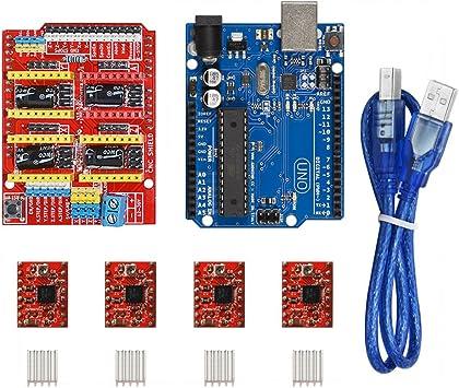 KOOKYE CNC Tarjeta de expansión protectora, tarjeta UNO R3 y 4 ...