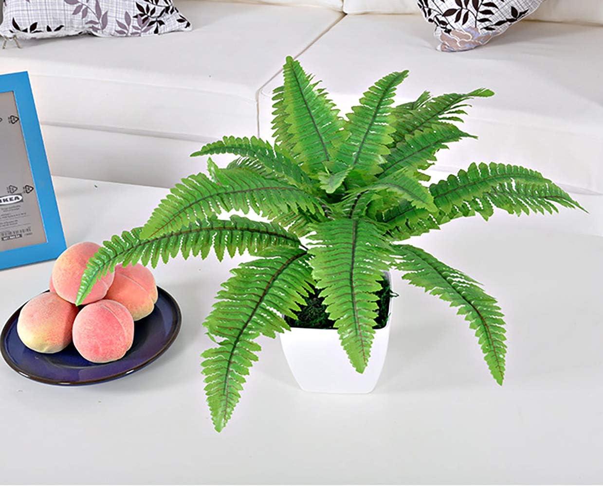 Green Palm Hawaiian Artificielle Plante D/écoration de Table pour Hawaiian Table Party Jungle Beach Th/ème Luau Feuilles de Palmier Tropical Kitchen-dream Feuilles artificielles de Palmier
