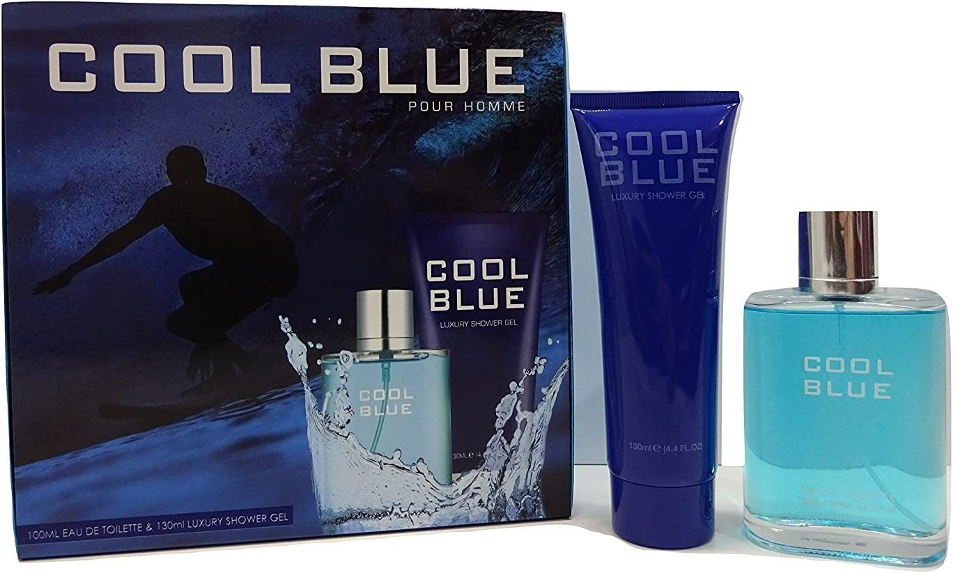 Cool Blue Pour Homme 2pc Perfume Gift Set For Men 100ml Edt 130ml Luxury Shower Gel Amazon Co Uk Beauty