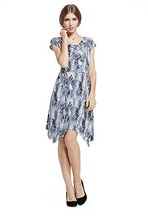 bc71246a896 Purpura ErizoDamen SkaterKleid Grau Grau  Amazon.de  Bekleidung
