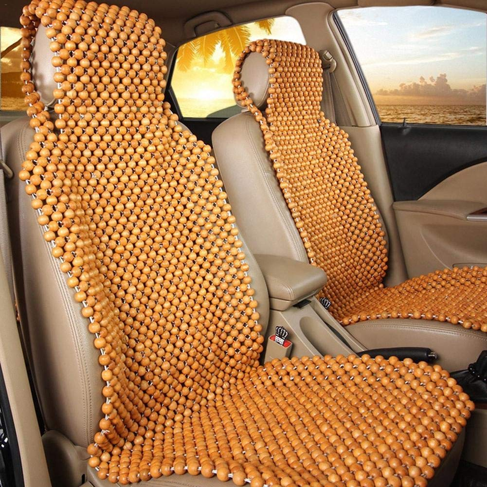 Jiang Hui Wooden Bead Beaded Massaging Car Van Seat Cover Cushion 45 x 130CM