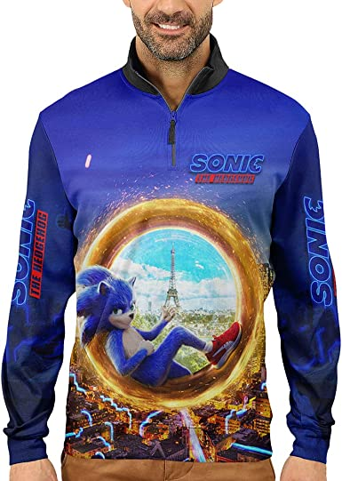 Amazon Com 2019 New Sonic The Hedgehog Art 01 Fashion Full Print Sublimation Mens T Shirt And Hoodie Size S 3xl Sports Outdoors