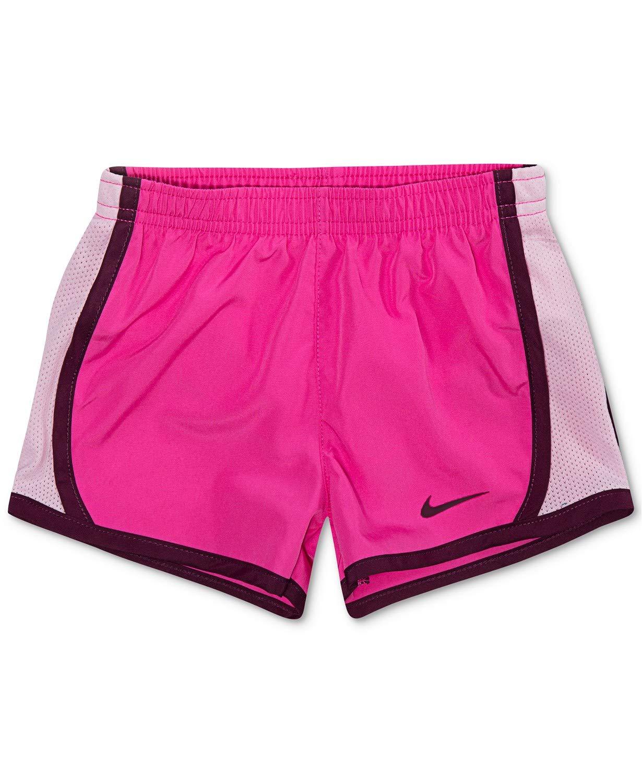 Nike Girl`s Dri-FIT Running Tempo Shorts (Laser Fuchsia(327358-P5D)/Bardo, 6X) by Nike