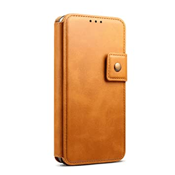 Elegant Gold Wallet Case for iPhone XR PU Leather Flip Cover Compatible with iPhone XR