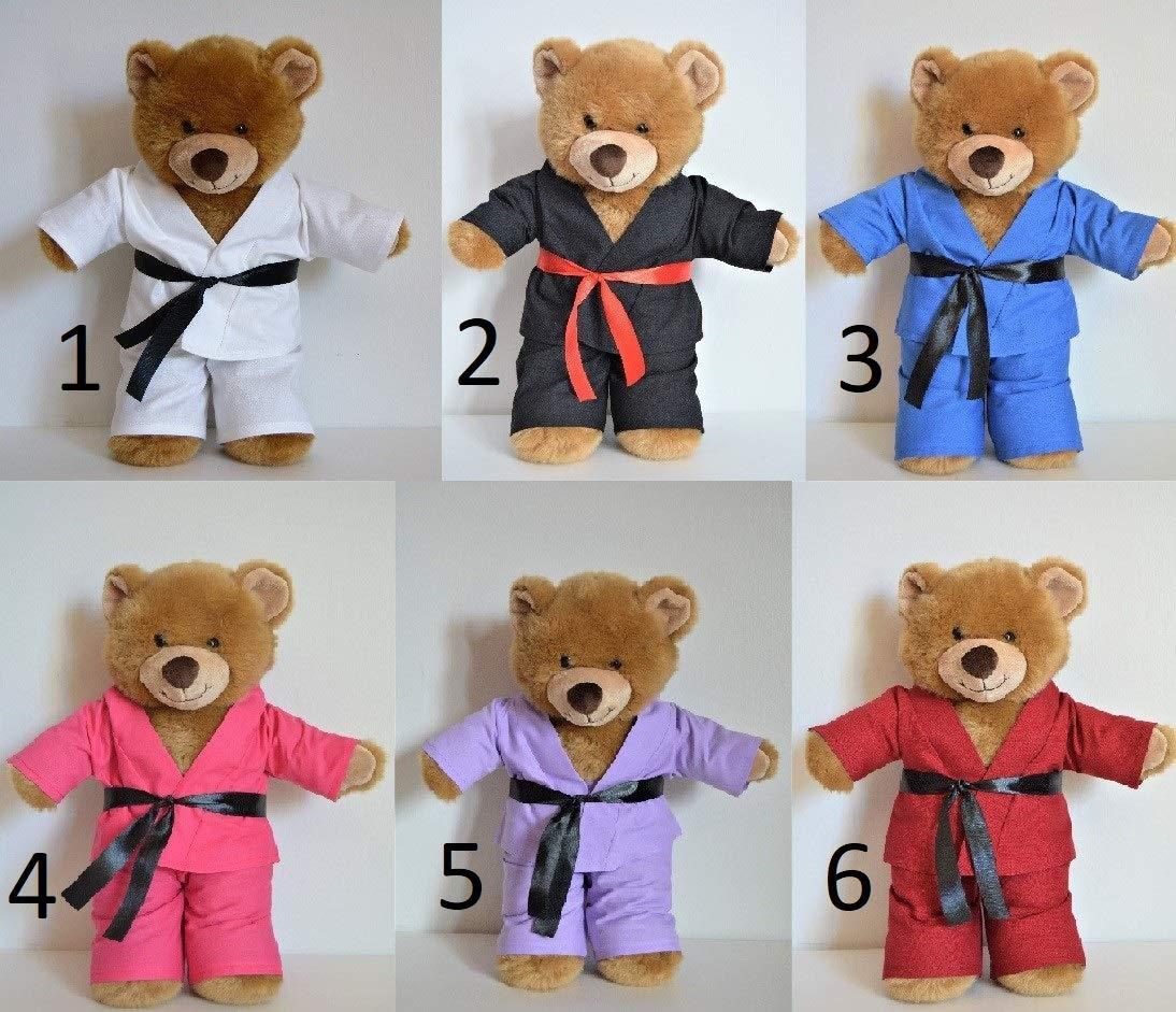 Handmade Doll Clothes Karate Uniform Assorted Colors Gi Judo TKD fit 15 Teddy Bear Build-a-Bear