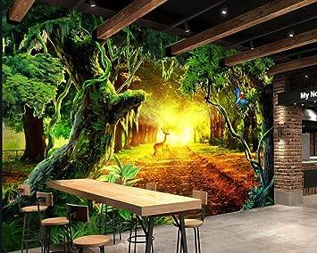 Fantasy Sunny Forest Baum Wohnzimmer Wald Volle Szene Tv ...