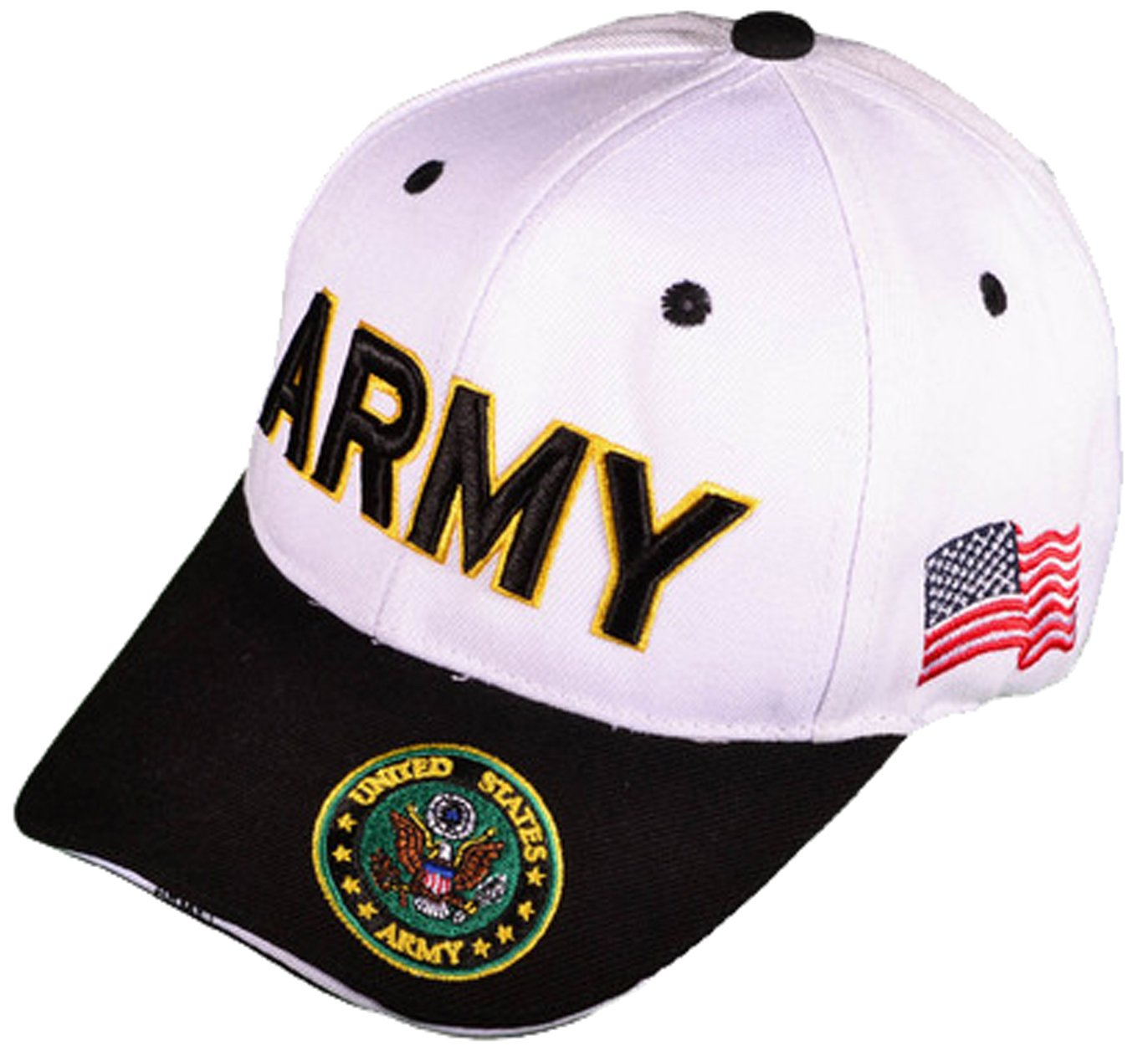 Buy Caps and Hats U.S. Army Veteran Military Baseball Cap Mens One Size  White 0c3dcbfa4437