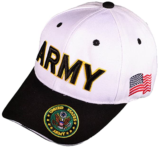 1fe103ae0d6 Army Hat Black U.S. Military Baseball Cap Embroidered Seal Logo at ...