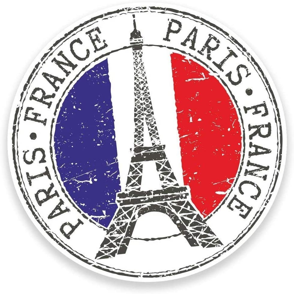 Paris Eiffel Tower France Vinyl Sticker Decal Laptop Car Bumper Sticker Travel Luggage Car iPad Sign Fun 5
