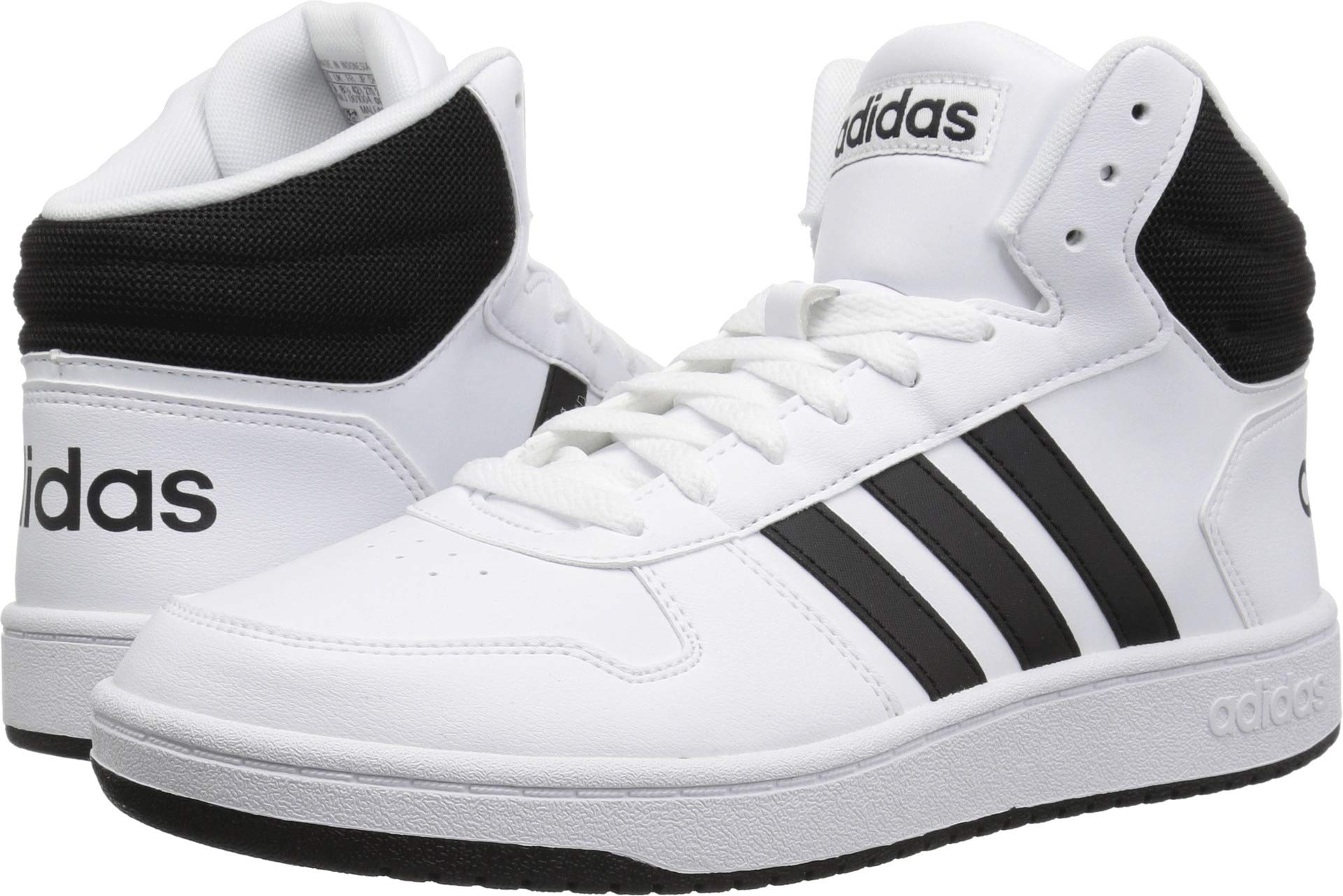 adidas Men's Hoops 2.0 Sneaker, White Black, 11 M US by adidas