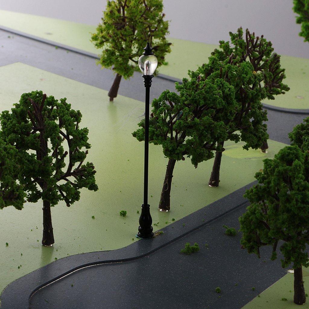 MagiDeal HO Scale Building 1:87 for HO Gauge Model Train Landscape Layout
