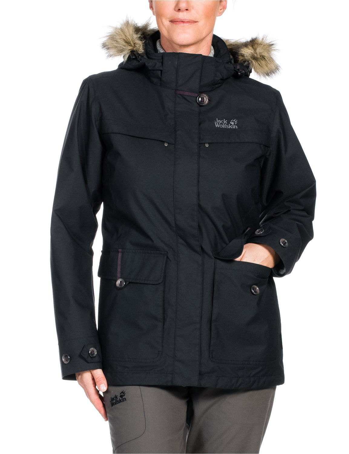 jack wolfskin damen 3 in 1 jacke parka corner brook. Black Bedroom Furniture Sets. Home Design Ideas