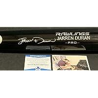 $134 » Jarren Duran Boston Red Sox Autographed Signed Black Baseball Bat BECKETT ROOKIE COA