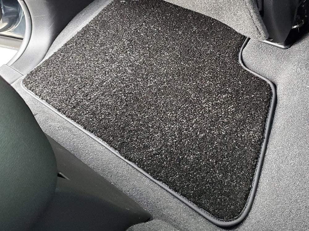 2nd Row and Rear Row Carpet Car SUV Floor Mats Heavy Cushion Ultramax Asphalt Black CarsCover Custom Fit 2015-2019 Chevy Tahoe Front Row