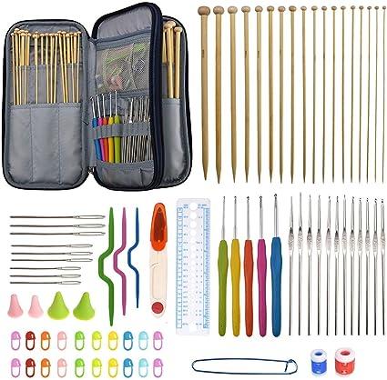 22pcs//Set Aluminum Crochet Hooks Needles Knit Multi Color Weave Craft Yarn QML