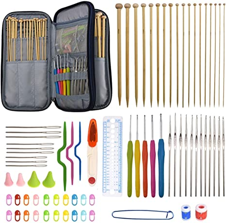 94 Pieces Crochet Hooks & Knitting Needles Set Kit