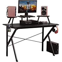 Soges Gaming Table 47.2inches Desk Computer Desk Black,YX001-120-BK-SG