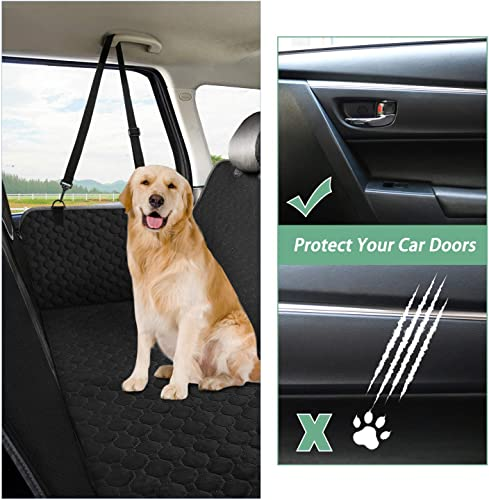 Mancro Car Seat Covers for Dogs,Car Seat Cover for Back Seat with Side Flaps, Convertible Scratch Proof Pet Seat Cover Hammock, Durable Soft Seat Protector for Cars Trucks SUVs