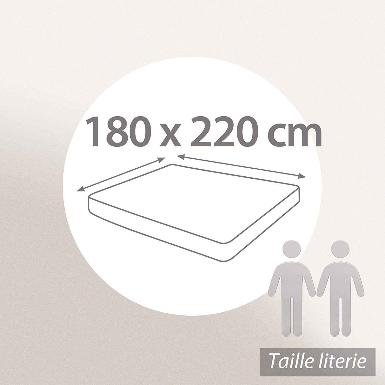 Prot/ège Matelas 150x190 cm ACHUA Molleton 100/% Coton 400 g//m2 Bonnet 30cm