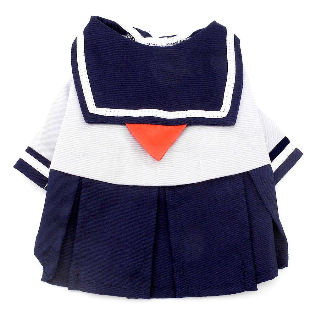 Smalllee Lucky Ranger Bleu marine Captain Costume de marin Chien Robe style frais uniforme de l'étudiant, Bleu, XL YP0191-XL