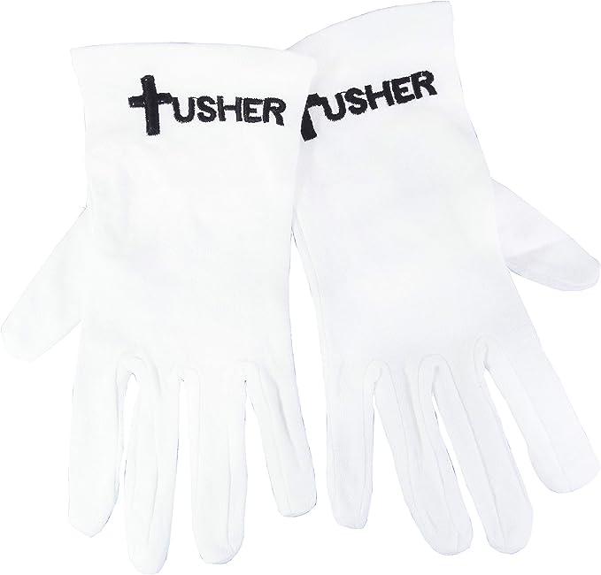 Guantes-Usher w/Cross algodón blanco-grande: Amazon.es: Ropa y ...
