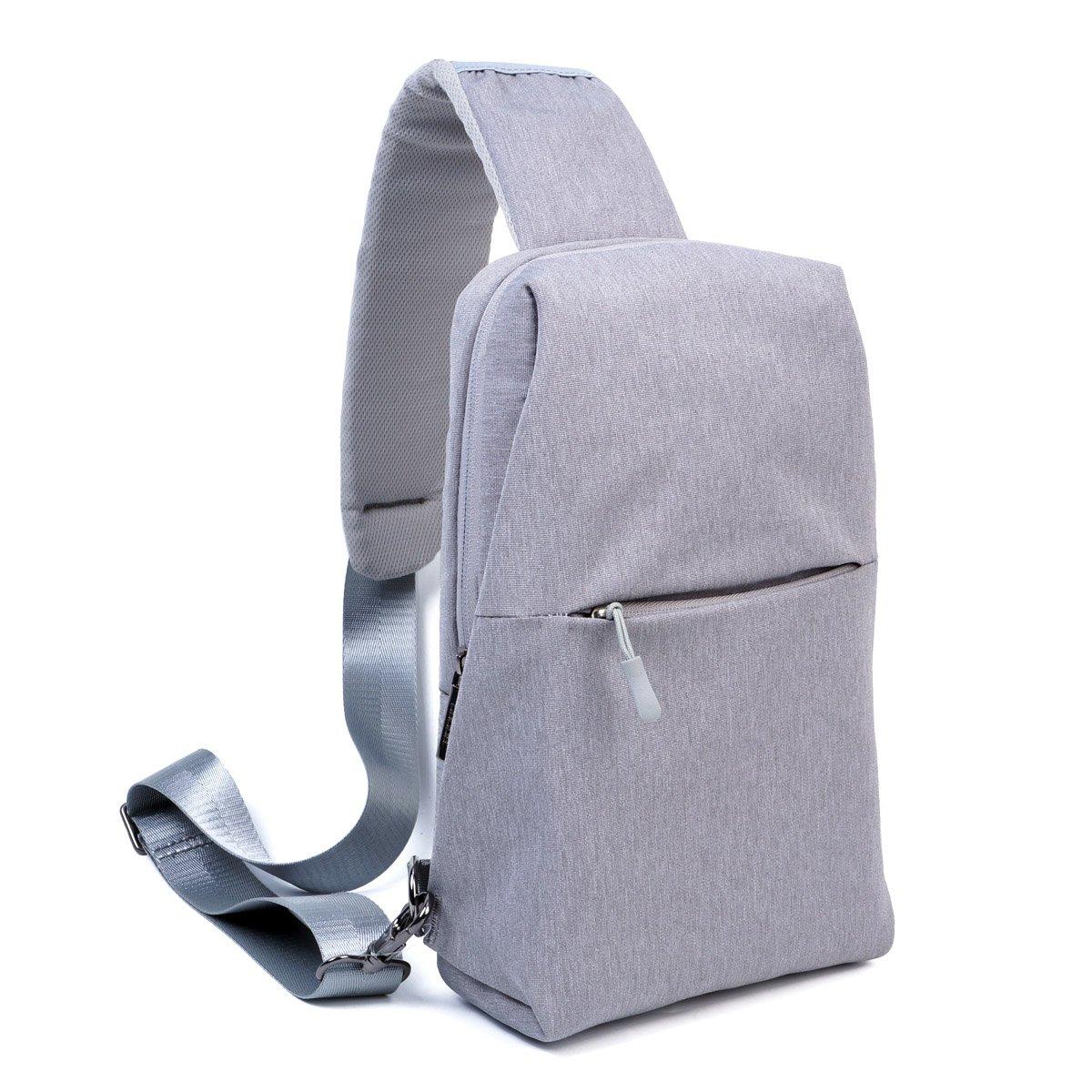 Sling Backpack,Outdoor Crossbody Shoulder Bag Chest Pack Multipurpose Daypack(Grey)