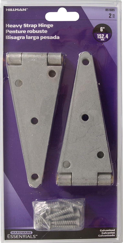 Amazon.com: Hillman Hardware Essentials 851685 Heavy Duty Strap Hinges Galvanized 6
