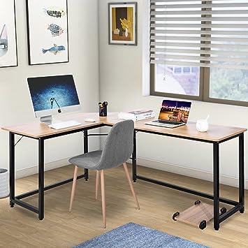 Station de Travail Moderne Table de Luxe PC de Bureau d\'ordinateur d ...