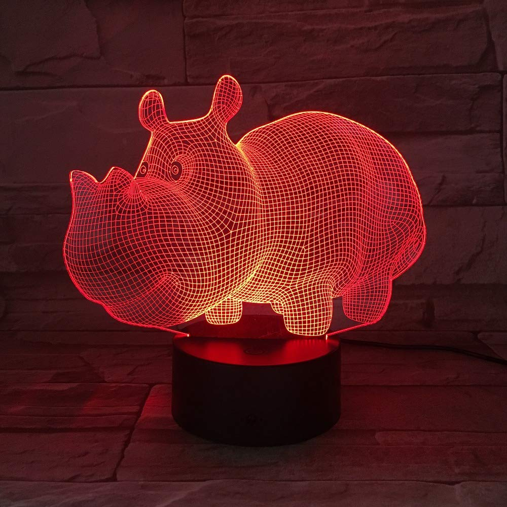 wangZJ Lámpara de ilusión 3d / durmiendo Iluminación ...