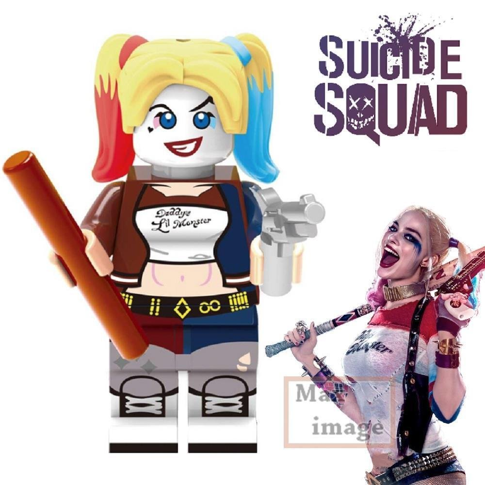 1pc Harley Quinn Minifigure Building Blocks Toy Suicide Squad Custom #257 by Unknown