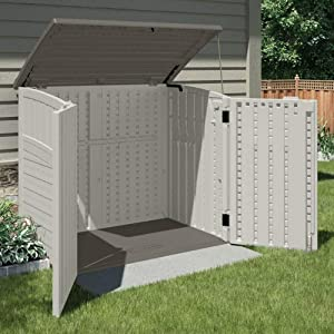 Multi-Use & Design Function Outdoor Home, Resort, Pool, Hotel Storage Shed Equipment Various Tools Toolshed, Bin Trash Container, Outside, Barn Garden Backyard Garage
