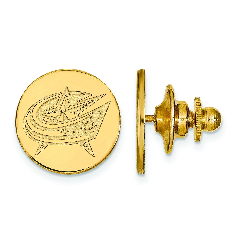 Columbus Blue Jackets Lapel Pin (14k Yellow Gold) by LogoArt