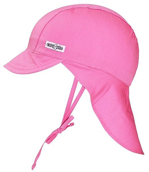 65df18495 EveryHead Fiebig Sombrero De La Protección Del Cuello Gorros Con Cintas  Unión Cabrito Casquillo Verano Gorra