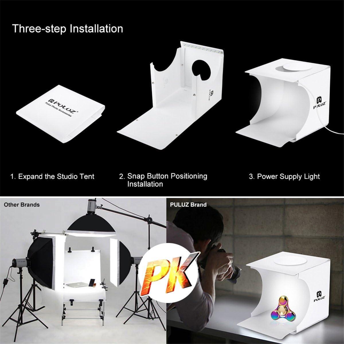 sfondo studio fotografico ripresa tenda piccola scatola chiara pieghevole portatile con 6/colori 20/x 20/cm Ledmomo photo studio tenda