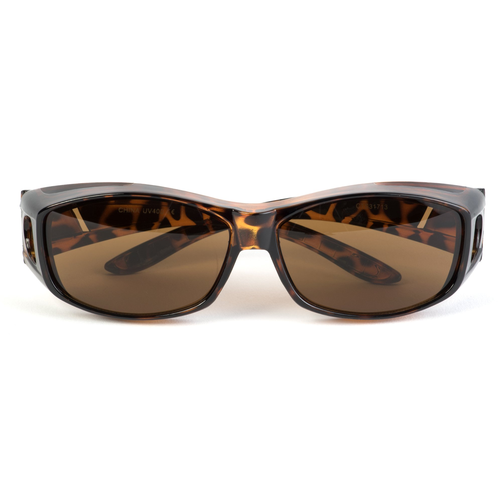 Over Glasses Sunglasses - Fitover Sunglasses with 100% UV Protection - By Pointed Designs (Leopard) by Pointed Designs (Image #2)