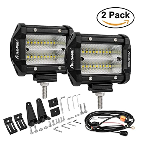 Amazon led light bar autofeel 4 inch led work light spot flood led light bar autofeel 4 inch led work light spot flood combo beam light bar aloadofball Gallery