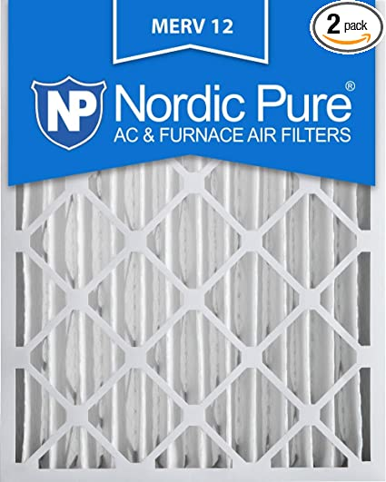 Nordic Pure 16x20x4 Box of 2 MERV 12 Pleated AC Furnace Filter 3-5//8 Actual Depth
